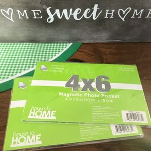 House to Home 4 x 6 Magnetic Photo Pocket